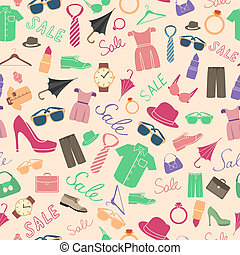Fashion and clothes accessories seamless pattern vector...