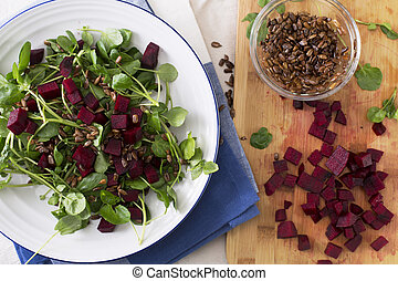 Beetroot Watercress Salad - Watercress and beetroot salad...