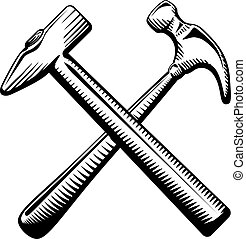 Two crossed hammers symbol