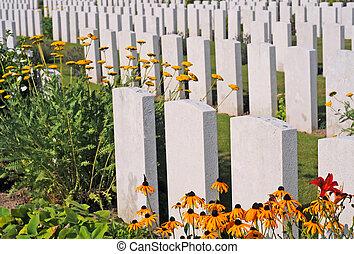British World War I cemetery in Poelkapelle near Ypres