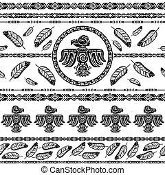 indianin, plemienny, próbka, tło