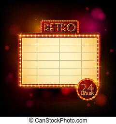 Retro billboard poster vector illustration