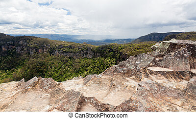 Landslide Lookout in Blue Mountains Australia - Landslide...