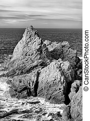 Seascape of Point Lobos in Black and White