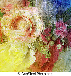 Abstract flowers background - Abstract vintage flowers...