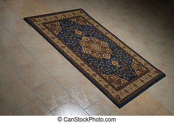 Persian Rug Isolated On Tiles - Colorful Carpets And Rugs...