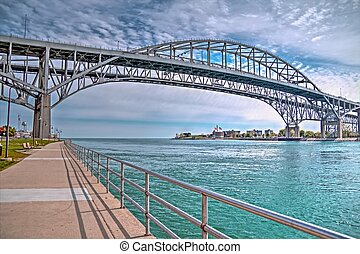 Blue Water Bridges - The twin spans of the Blue Water...