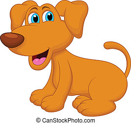 dog cartoon character - vector illustration of dog cartoon...
