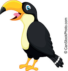 Toucan bird cartoon - vector illustration of Toucan bird...