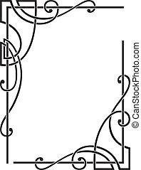 decorative corners - set of two decorative corners