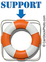 Point to Lifebuoy Support find help