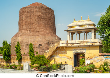 Stupa in Sarnath - The Dhamekh Stupa in Sarnath