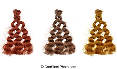 Colorful Hair Color Samples - Sample swatches of different...
