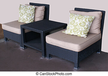 Patio Furniture - Outdoor patio furniture with cushions