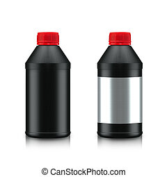 Oil Bottle - Black Oil Bottle isolated on white background....