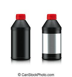 Oil Bottle - Black Oil Bottle isolated on white background....