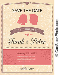 Save the date wedding invitation card template vector...