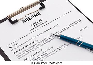 Resume isolated