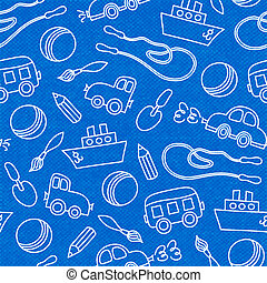 Seamless doodle children toys pattern