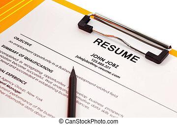Resume in folder