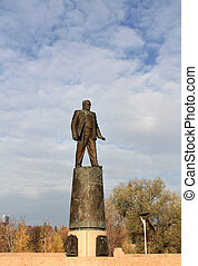 Monument - Bronze monument to Sergei Korolyov on a granite...