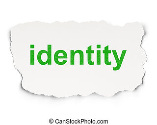 Security concept: Identity on Paper background