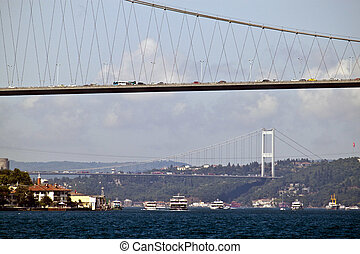 Bosporus bridges in Istanbul, Turkey