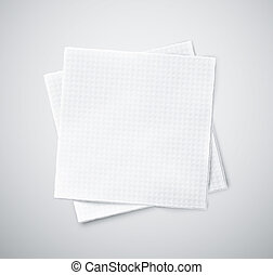 Two napkins - Two white napkins, eps 10