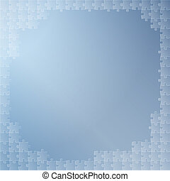 blue background with puzzle