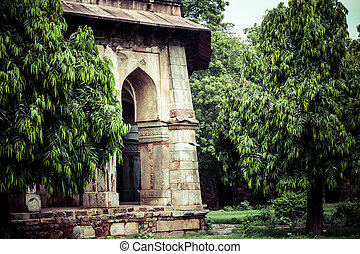 Lodi Gardens Islamic Tomb Seesh Gumbad and Bara Gumbad set...