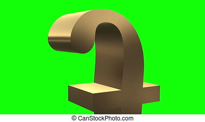 Pound sign close up rotates and mov - Pound sterling symbol...