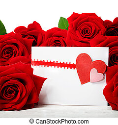 Hearts greeting card with beautiful