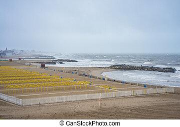 La Perla Beach in Mar del Plata, Argentina
