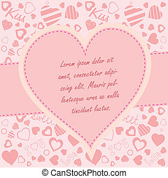 Valentine's day background with copy space