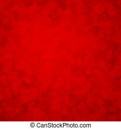 Valentines day background Red hearts