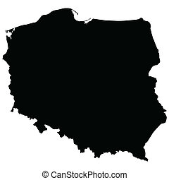 Map of Poland vector illustration - Map of Poland isolated...
