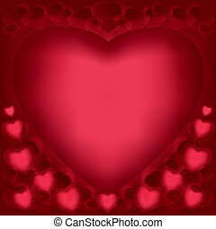 Love background with hearts for Valentines Day