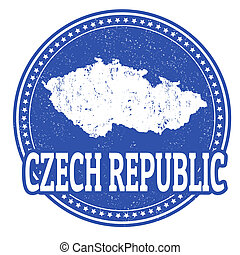 Czech Republic stamp - Vintage stamp with world Czech...