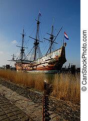 antigas, navio, porto