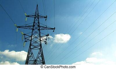 High-voltage line.