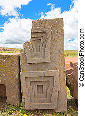 Megalithic stone complex Puma Punku - One of the megalithic...