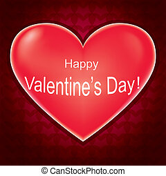 Valentines day card, love background with heart