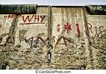 Berlin wall - view of the Berlin wall