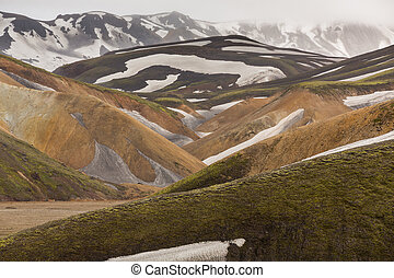 Landmannalaugar, Iceland - Colorful mountain landscape...