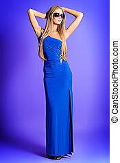 full length - Full length portrait of a fashionable model in...