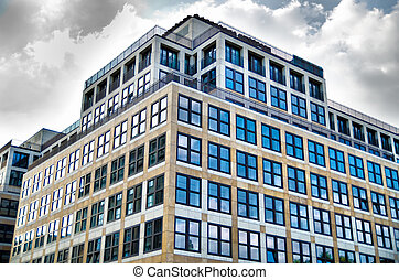 modern building - modern office building with a lot of...