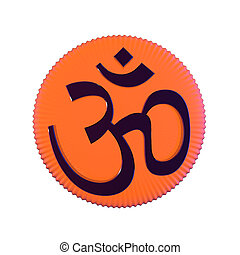 OM symbol - Om symbol on white background