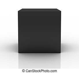 black box on white background