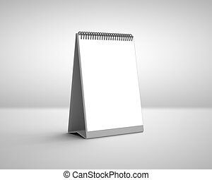 blank calendar on a white background