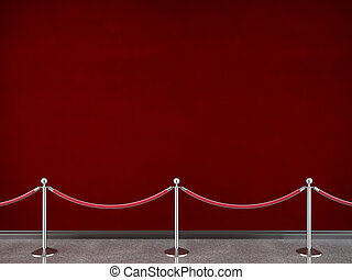 stanchions - gallery stanchions and red wall